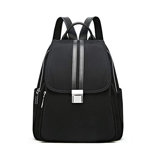 Grote reizen capaciteit rugzak Casual Lichtgewicht Dames Rugzak, Portemonnee Anti-diefstal Kleine Nylon Travel Bag schoudertas waterdichte rugzak (Color : Black, Size : One size)