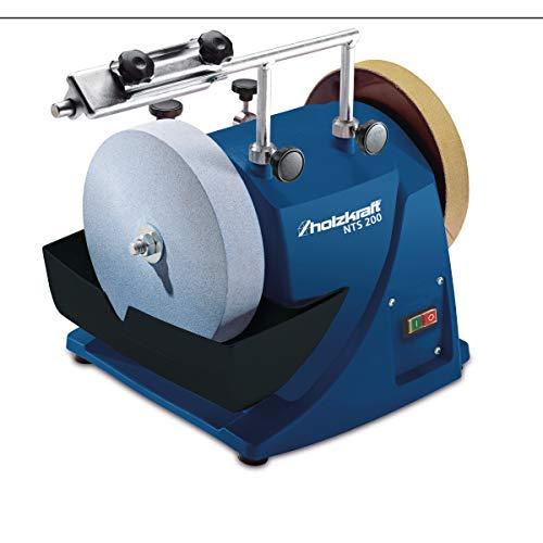 Holzkraft Nass-Schleifsystem NTS 200 (für Werkzeuge, Messer, Metall) Induktions-Motor, Edelkorund-Schleifstein, 5750200