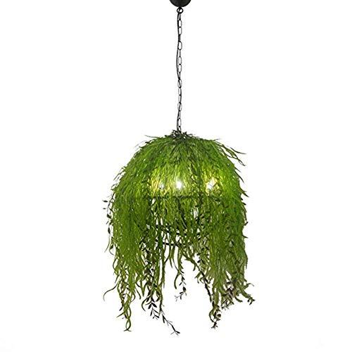 QINAIDI Industrielle Windanlage Kronleuchter - Musik Restaurant Tee-Shop Pflanze Kronleuchter Bartheke Kartenhalter Retro Kreative Simulation Blume Licht Pendelleuchten,55cm*55cm