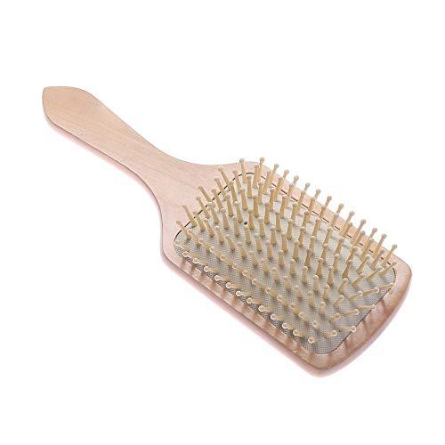 DSJ Peigne de Massage pour Spa en Bois Peigne en Bois pour Dents de Palette, Peigne Antistatique, Blanc