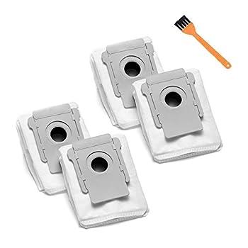YOZATIA 4 Packs Replacement Bags for iRobot Roomba i7 i7+  7550  i3 i3+  3550  i6 i6+  6550  i8 i8+  8550  s9 s9+  9550  E5 E6 I & S Series Clean Base Automatic Dirt Disposal Bags