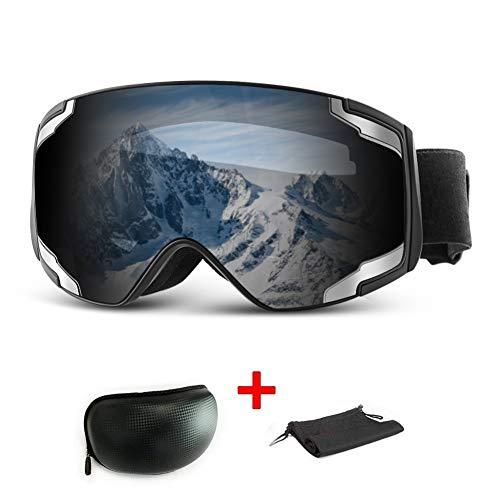 Extra Mile Skibrille,Snowboardbrille für Herren und Damen,Snowboardbrille Verspiegelt Anti-Beschlag,Skibrillen für Brillenträger Snowboard Brille OTG UV-Schutz für Männer, Frauen und Jugendliche