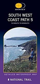 South West Coast Path 5 XT40: Plymouth to Sidmouth (Route Map)