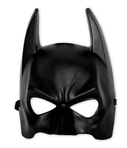 Batman Maske für Kids Schwarze Halbmaske aus Kunst