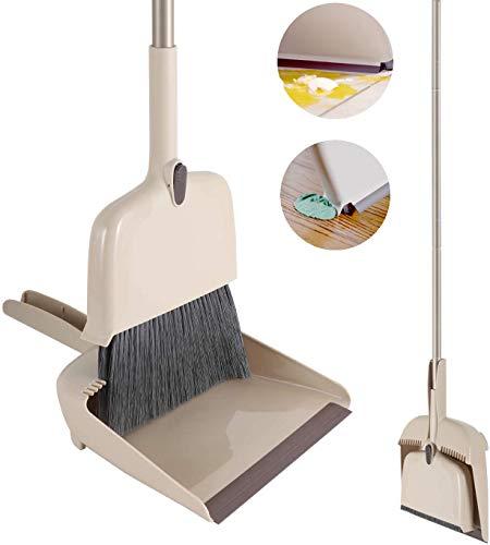 Cleanhome 4in1 ほうき ちりとり セット 結露取り ほうき 室内 屋外 コンパクト 収納可能 自立タイプ 138cm調節可能 埃/水/髪の毛取り 窓/壁/鏡/地面に適用 掃除道具