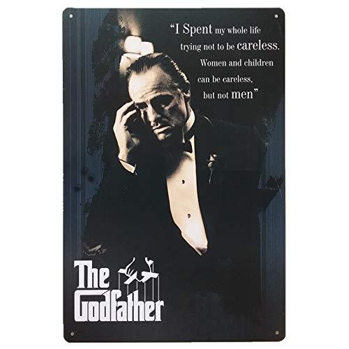 Generic Blechschilder_The Godfather (Der Pate)_Klassik Retro Blechschilder Vintage Dekoration_Motiv Hollywood, Kino, Film, Stars, VIP & Ikonen_Blechschilder Sprüche & Zitate Metallschild