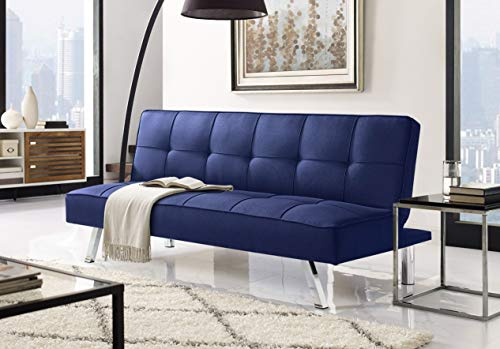 Serta Rane Collection Convertible Sofa, L66.1 x W33.1 x H29.5, Navy Blue