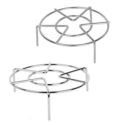 Konrisa Vapeur Rack Grille Acier Inoxydable Panier Vapeur pour Autocuiseurs, 7 pouces Diamètre + 1,95 / 2,75 pouces Hauteur