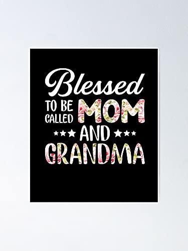 Poster con scritta 'Situen Beessed To Be Callled mamma e nonna – per la decorazione della sala giochi, stampabili per bambini, decorazione da parete per camerette stampabili