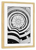 artboxONE Poster mit Rahmen Kiefer 30x20 cm Guggenheim Museum, NY von Matteo Colombo - gerahmtes Poster