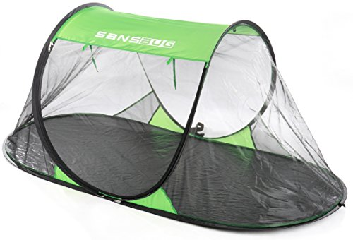 SANSBUG 1-Person Free-Standing Pop Up Mosquito Net (Tarp Floor)