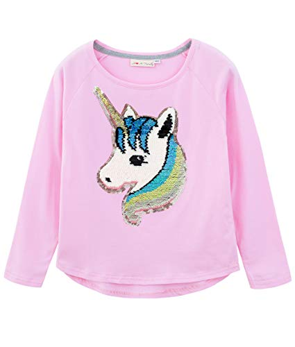 HH Family Flip Sequin Unicorn Shirt Tee for Girls 3-12 Years 3