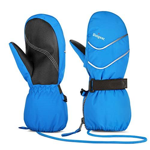Unigear Kinder Skihandschuhe Fäustlinge wasserdicht und Winddicht, Schnee-Fausthandschuhe atmungsaktiv, Thermo warme Winterhandschuhe für Jungen und Mädchen von 2 bis 8 Jahre