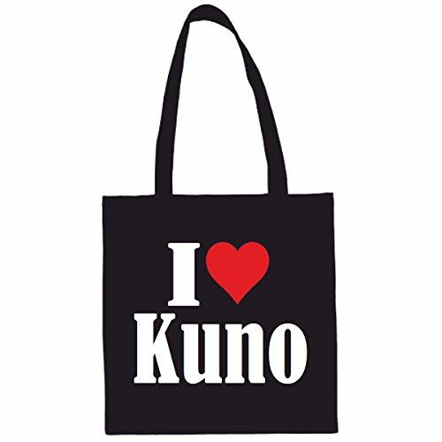 Reifen-Markt Tasche I Love Kuno Größe 38x42 Farbe Schwarz Druck Weiss
