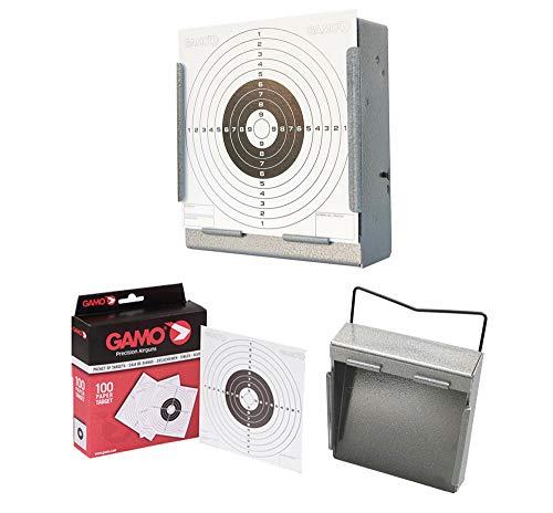 Tiendas LGP - Gamo, Pack Cazabalines Gamo Plano + Dianas (100 uds) 14 x 14 cm.