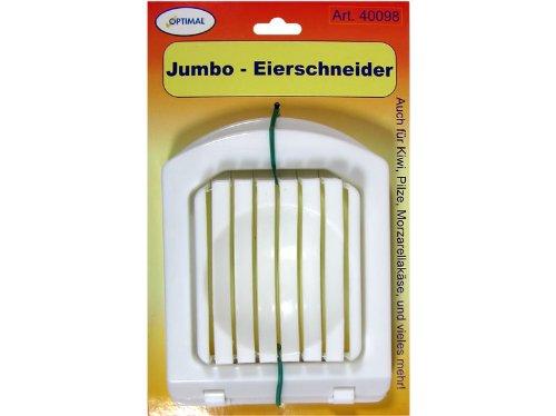 Jumbo Eierschneider aus Kunststoff, extra stabil auch geeignet für Kiwis, Pilze, Mozzarella, etc.