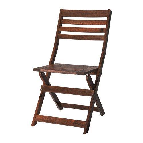 Ikea ÄPPLARÖ Stuhl für draußen; klappbar; aus massiver Akazie