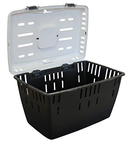 PETGARD Transportbox für Katzen, Hunde, Kaninchen und andere Kleintiere mit großer Dachöffnung, 55x37x33 cm, Dakota