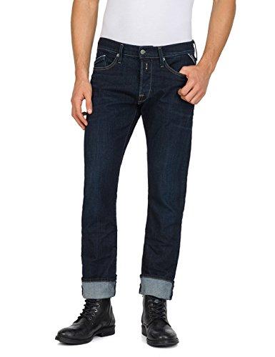 Replay Herren Waitom Slim Jeans, Blau (Dark Blue Denim 7), W34/L34