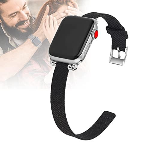 HHORB Correa tejida compatible con iWatch Series SE 6 5 4 3 2 1, correa de repuesto de tela de nailon transpirable, correa de repuesto para Apple Watch de 38 mm, 42 mm, 40 mm, 44 mm, 4,38/40 mm