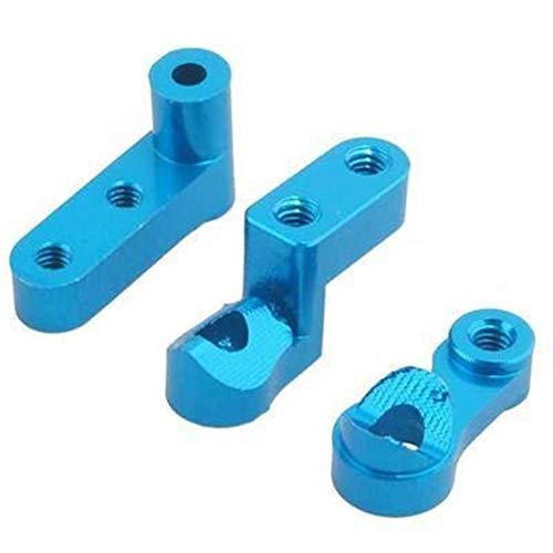 HONG YI-HAT Servo Saver Steering Komplette M611 for Rc Auto-Modell Auto 1/18 for Himoto E18 Truck Buggy On-Road Maverick ION XB ION M (Color : Sky Blue)