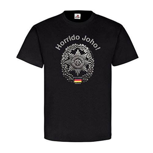 Horrido Joho FeldJäger Truppengattung Barett Militärpolizei MP Preußen Feldgendarmerie Polizei Army T Shirt #20649, Farbe:Schwarz, Größe:Herren 3XL