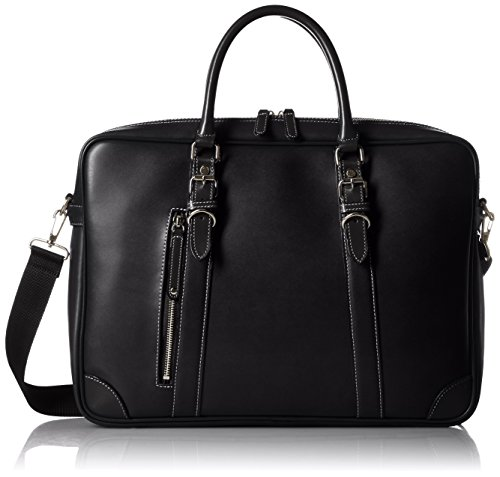 [キワダ] ビジネスバッグ パトリック 本革付属 【木和田】 鞄の聖地兵庫県豊岡市製。B4サイズ対応、ショルダーとの2WAY仕様。 ブラック