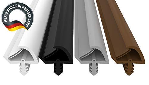 Türdichtung Weiß 5m - 3mm Nutbreite / 7mm Nuttiefe / 12mm Falz - Antidehnungsfaden Haustürdichtung Türanschlagdichtung Türdichtung (weiss 5m)