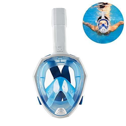 Dasgf Opvouwbare duikmaskers met 180 graden volzicht, eenvoudige ademhaling, snorkelmaskers voor volwassenen of kinderen, anti-condens en veiligheid
