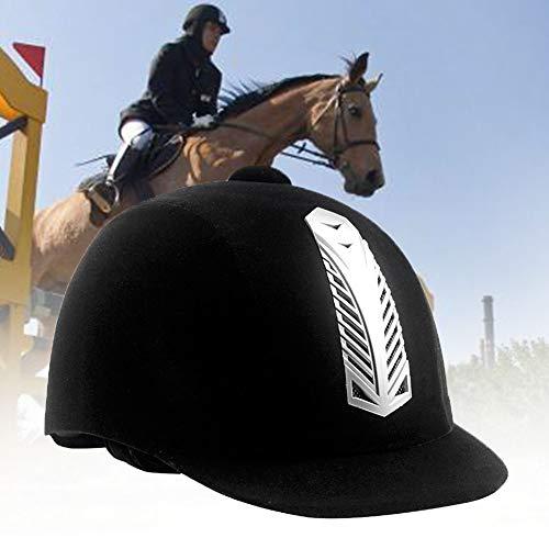 Casco Equestre, Equitazione Sport Caschi, Velluto Nero Confortevole Equitazione Cappelli Traspirante...