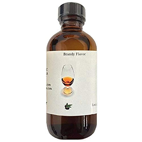 OliveNation Brandy Flavoring Extract, TTB-Approved for Brewing, Beverages, Baked Goods, Sauces, Fillings, Non-Alcoholic, Non-GMO, Gluten Free, Vegan - 4 ounces