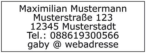 Adressaufkleber - Adressetiketten - 192 Stück, ca. 48 x 17 mm, 1-5 Zeilen beschriftbar