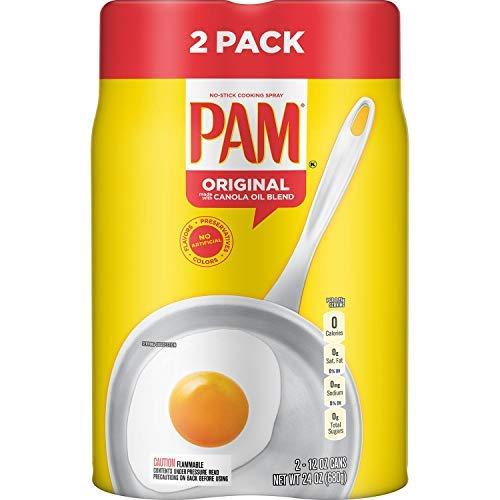 Pam Original No-Stick Cooking Spray, 12 oz., Can, 2 ct. (pack of 2)