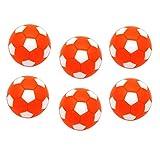 Toygogo 6 Unids Pelotas para Futbolín,32mm, Naranja