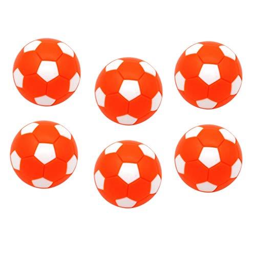 F Fityle 6 Piezas 1 1/4 '' Pelota de Fútbol de de Repuesto Bolas de Futbolín Fussball Estándar - Naranja