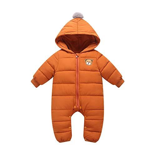 Minizone Bébé Combinaison De Neige Barboteuse À Capuche Coton Jumpsuit Hiver Tenues 9-12 Mois
