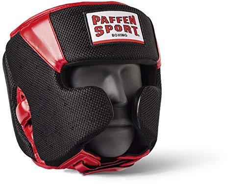 Paffen Sport Star MESH Kopfschutz für das Sparring; schwarz/rot; GR: L/XL