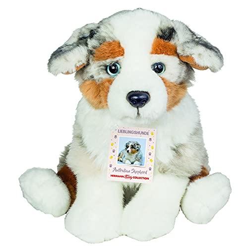 Teddy Hermann 91935 Hund Australian Shepherd Welpe 22 cm, Kuscheltier, Plüschtier, Sonderedition Lieblingshunde