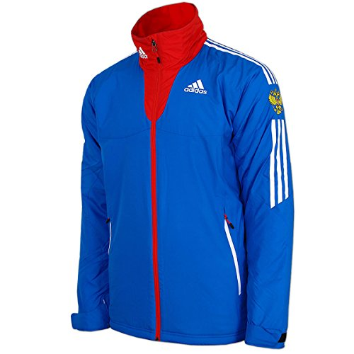 adidas Damen Cross-Country Jacke Team Russia Olympia Russland Teamjacke gefüttert warm wattiert (32)