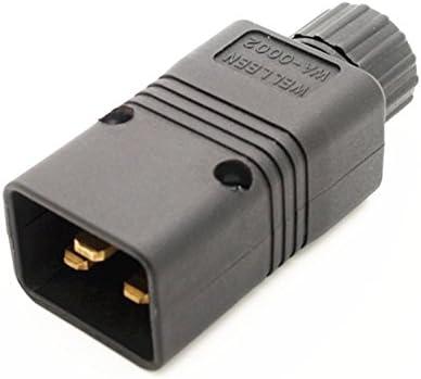 UPS Power IEC Male C20 Plug Power Cord Cable Plug Rewirable 16A / 250V NEW