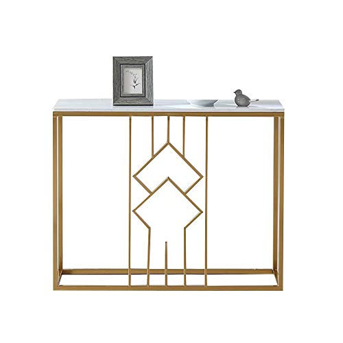 Console Sofa Entry Table,Wine Rack Table Wine Bar Cabinet Side End Table for Living Room Bedroom and Hallway Gold 30×11×28 Inch