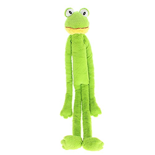 Multipet Swingin Slevin XXL Oversized 30-Inch Green Frog Plush Dog Toy