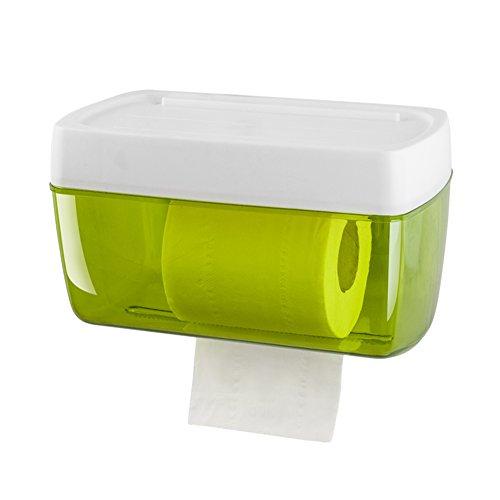 Plastic zonder boren muur mount toiletpapier houder, eenvoudige roll houder met plank badkamer waterdichte Tissue Box-A 23x13x13,5 cm (9x5x5inch)
