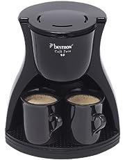 Bestron Duo koffiezetapparaat incl. 2 kopjes, voor gemalen filterkoffie, 450 watt, zwart