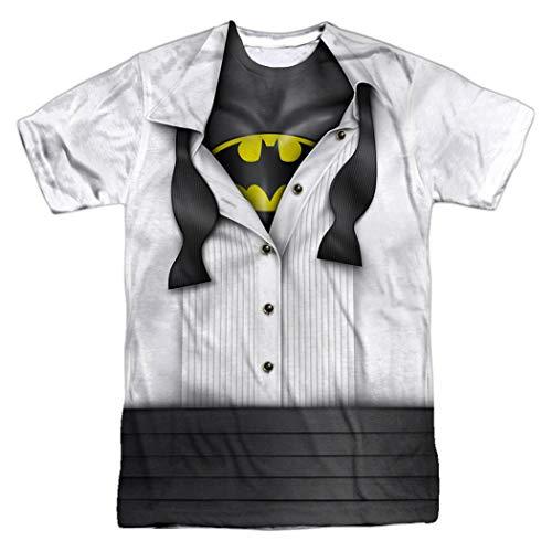 Batman Tuxedo Shirt DC Comics T Shirt & Stickers (Small)