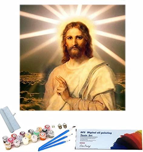 Beaxqb Dipingi per Numero per Adulti, Cultura Religiosa Pittura Creativa su Tela Ideale Regalo per Bambini Adulti 40x40cm