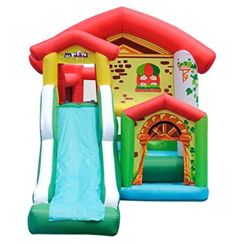 qazxsw Children's Indoor - Castillo inflable para interior y exterior, tamaño pequeño, cama elástica hinchable, juguete inflable