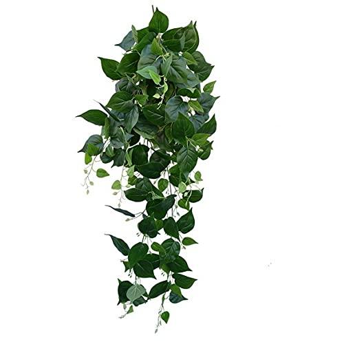 FLOWM Planta artificial colgante de hiedra artificial para bodas, hogar, hotel, decoración de fiestas, decoración de flores