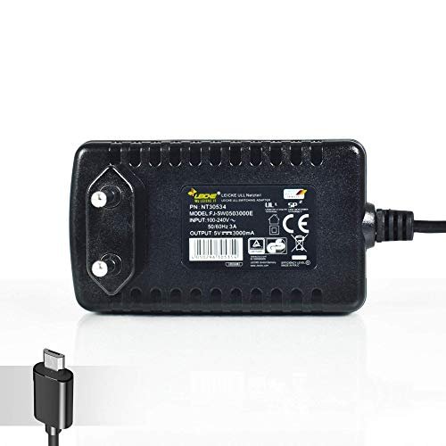 LEICKE 15W Netzteil 5V 3A Micro USB Stecker | kompatibel mit Bose Soundlink Colour, Mini II 2, Raspberry Pi 3, JBL Flip 2 und 3, Smartphones, Tablets, Powerbanks und Festplatten | TÜV Zertifiziert