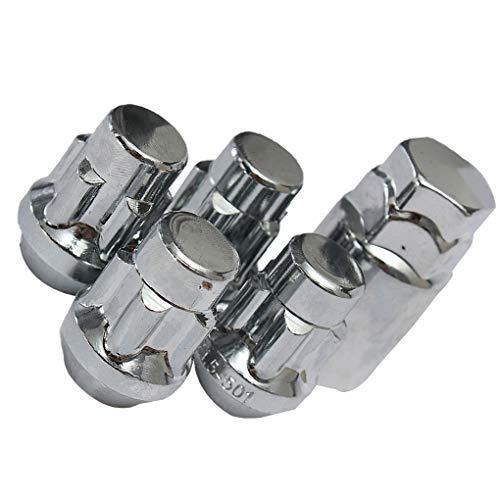 ben-gi 4PCS con Tratamiento térmico de Acero de 12 x 1,5 mm Llanta de aleación de Tuercas de fijación 60 ° + 1PCS Seguridad Tornillos y Llave antirrobo